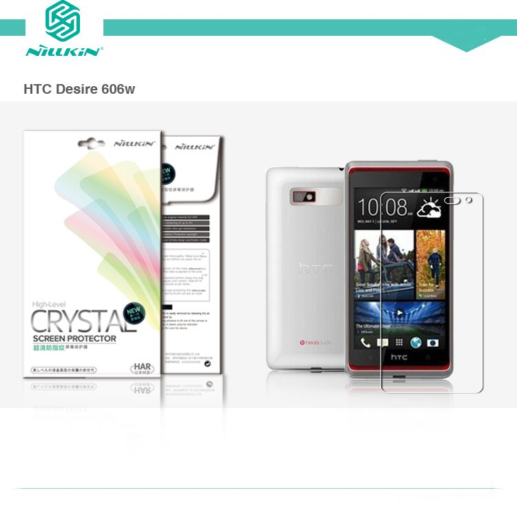 Защитная пленка Nillkin Crystal для HTC Desire 600 Анти-отпечатки