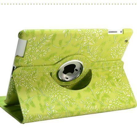 Купить Кожаный чехол-книжка TTX (Flower) (360 градусов) для Apple iPad Air 2 Зеленый