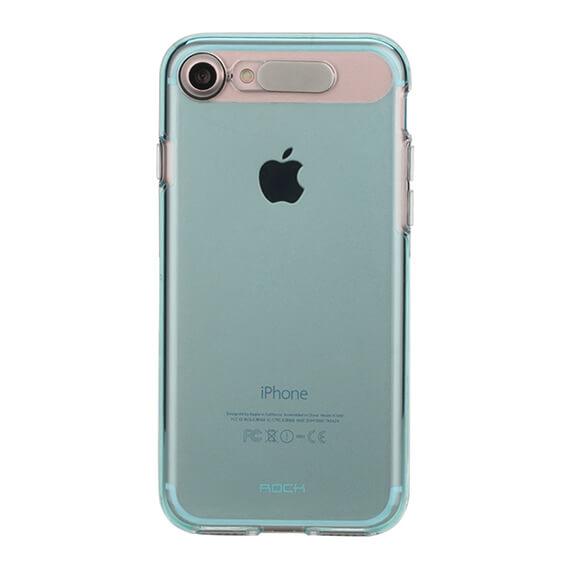Купить Светящийся TPU чехол ROCK Tube Series для Apple iPhone 7 plus (5.5 ) Синий / Transparent Blue