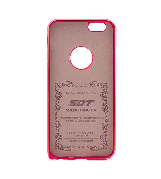 Купить Металлический бампер с кожаной вставкой для Apple iPhone 6/6s (4.7 ) Красный, epik
