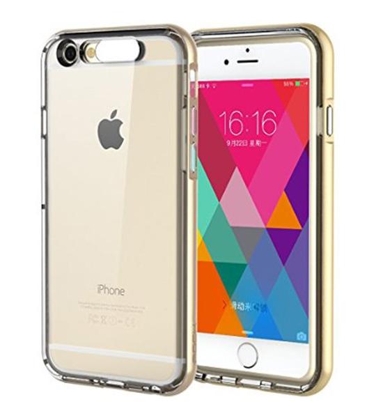 Купить Светящийся TPU чехол ROCK Tube Series для Apple iPhone 6/6s (4.7 ) Золотой / Gold
