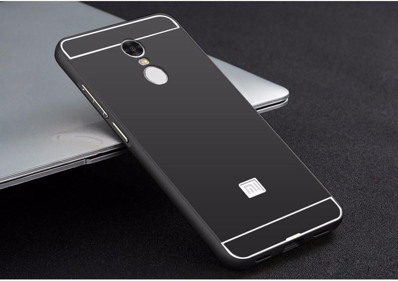 Купить Металлический бампер с акриловой вставкой для Xiaomi Redmi Note 4 Черный, epik