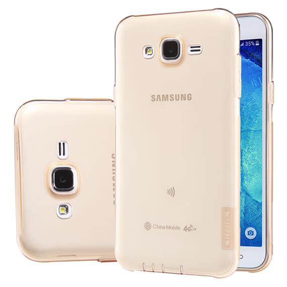 Купить TPU чехол Nillkin Nature Series для Samsung J500H Galaxy J5 Золотой (прозрачный)