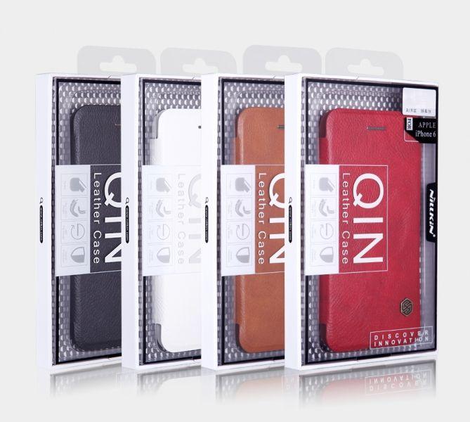 Купить Кожаный чехол (книжка) Nillkin Qin Series для OnePlus 2 Черный