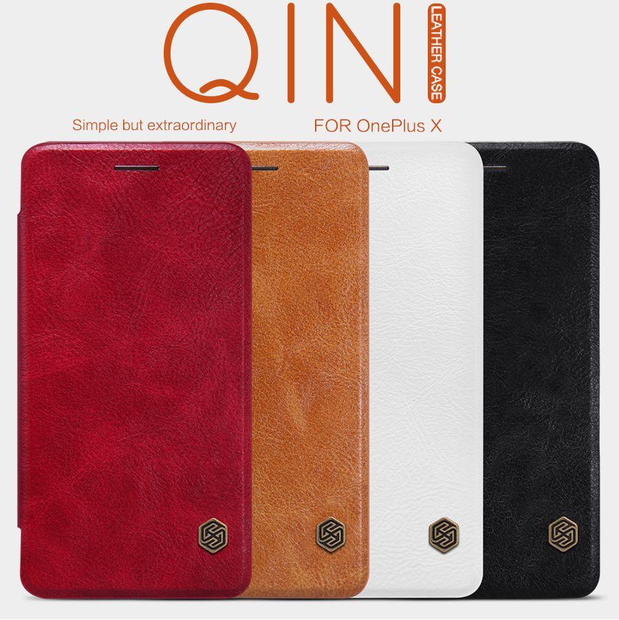 Купить Кожаный чехол (книжка) Nillkin Qin Series для OnePlus X Черный