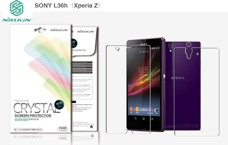 Защитная пленка Nillkin Crystal (на обе стороны) для Sony Xperia Z (L36i) Анти-отпечатки