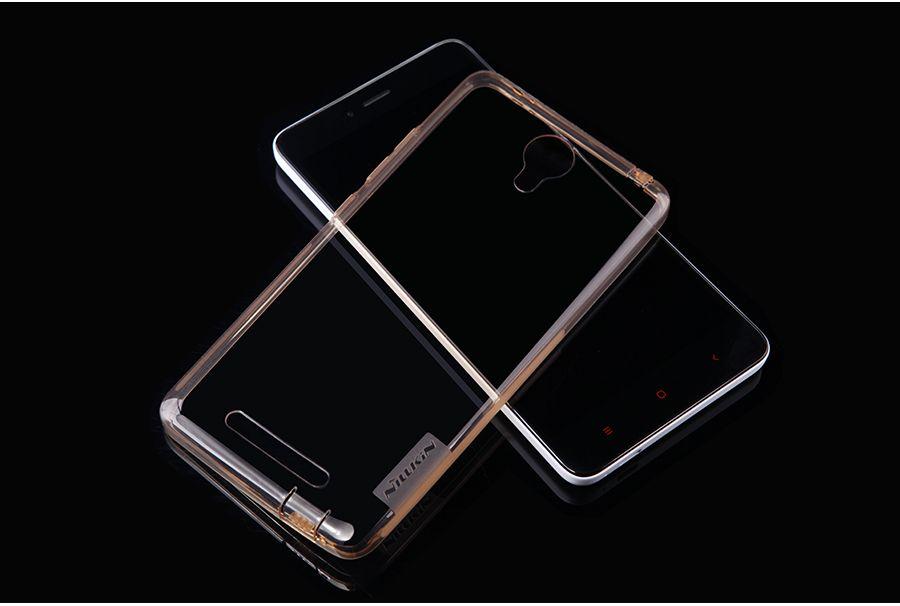 Купить TPU чехол Nillkin Nature Series для Xiaomi Redmi Note 2 / Redmi Note 2 Prime Золотой (прозрачный)