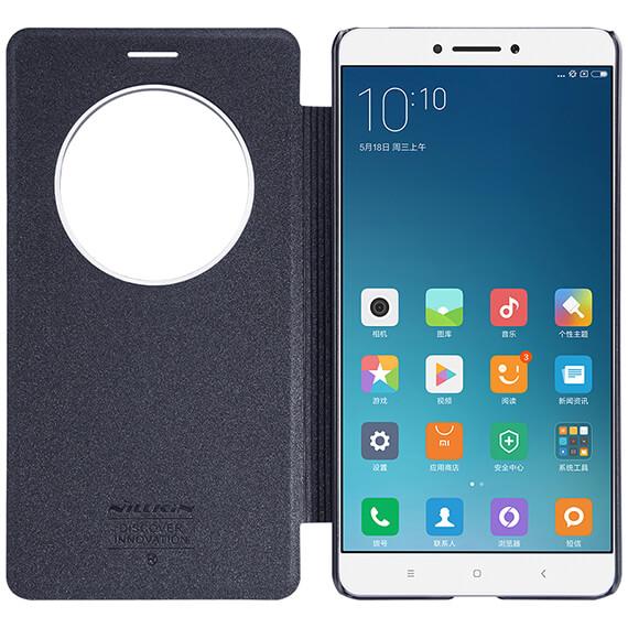 Купить Кожаный чехол (книжка) Nillkin Sparkle Series для Xiaomi Mi Max Черный