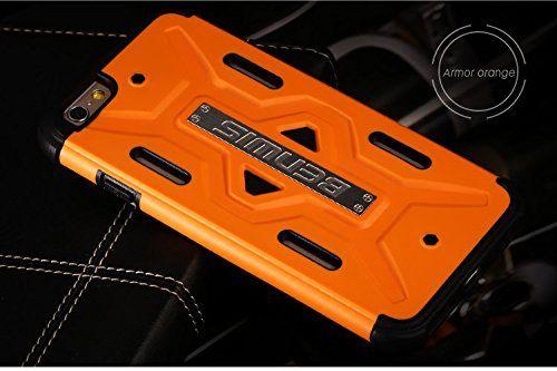 Купить TPU+PC бампер BENWIS Cool Armor Hybrid для Apple iPhone 6/6s (4.7 ) Оранжевый / Черный