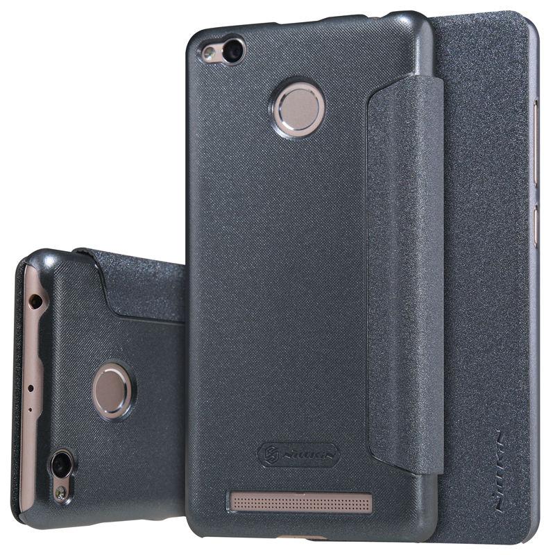 Купить Кожаный чехол (книжка) Nillkin Sparkle Series для Xiaomi Redmi 3 Pro / Redmi 3s Черный
