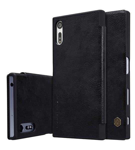 Купить Кожаный чехол (книжка) Nillkin Qin Series для Sony Xperia XZ Черный