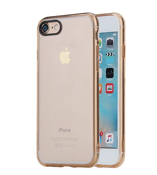 Купить TPU+PC чехол Rock Pure Series для Apple iPhone 7 (4.7 ) Золотой / Transparent Gold