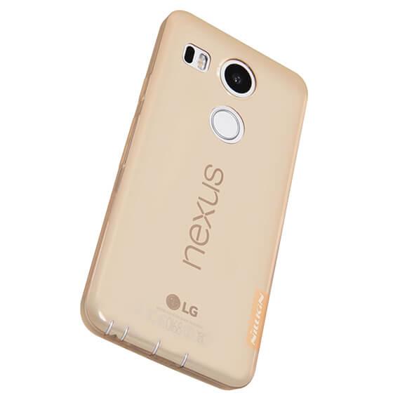 Купить TPU чехол Nillkin Nature Series для LG Google Nexus 5x Золотой (прозрачный)