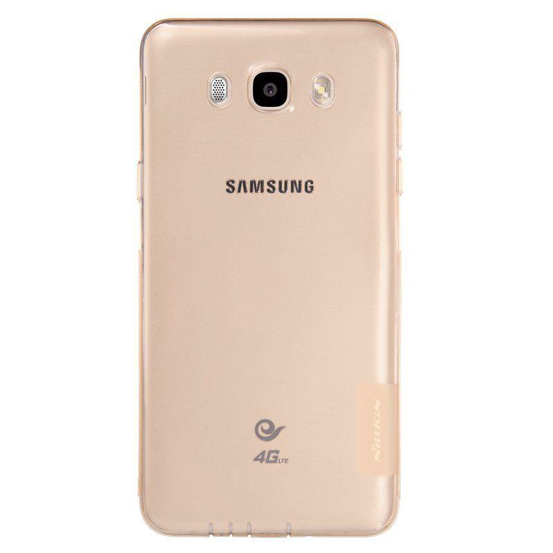Купить TPU чехол Nillkin Nature Series для Samsung J510F Galaxy J5 (2016) Золотой (прозрачный)