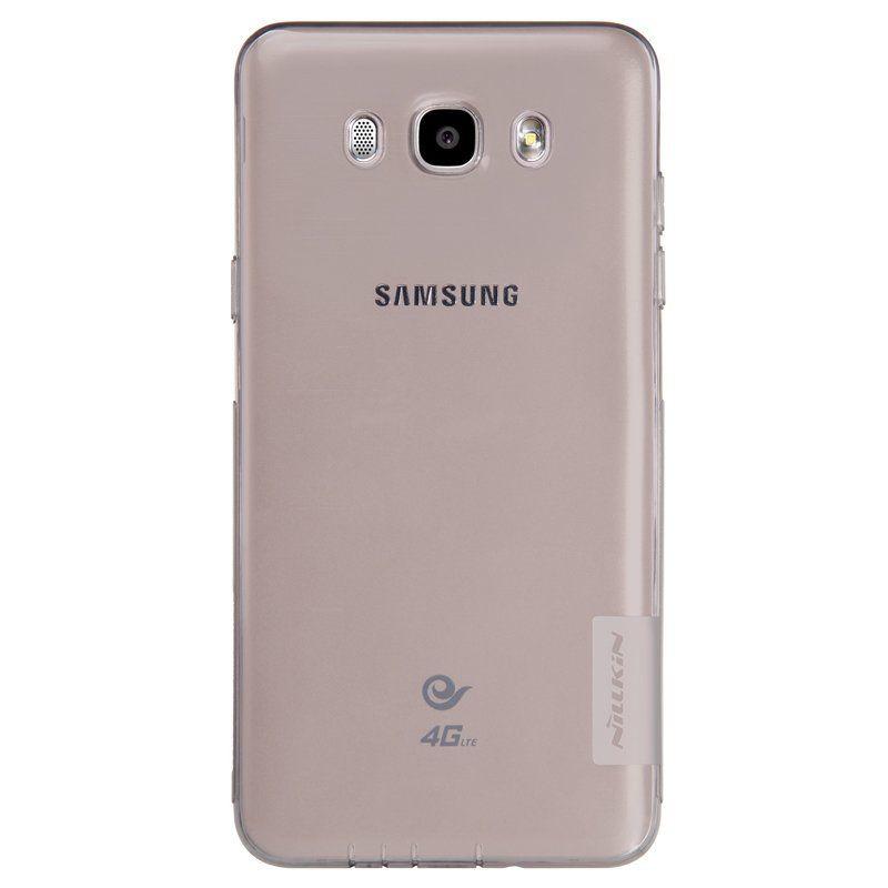Купить TPU чехол Nillkin Nature Series для Samsung J510F Galaxy J5 (2016) Серый (прозрачный)