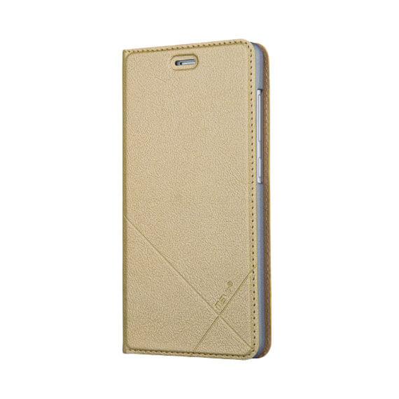 Кожаный чехол-книжка Msvii для Xiaomi Redmi 3 Pro / Redmi 3s с функцией подставки Золотой  - купить со скидкой