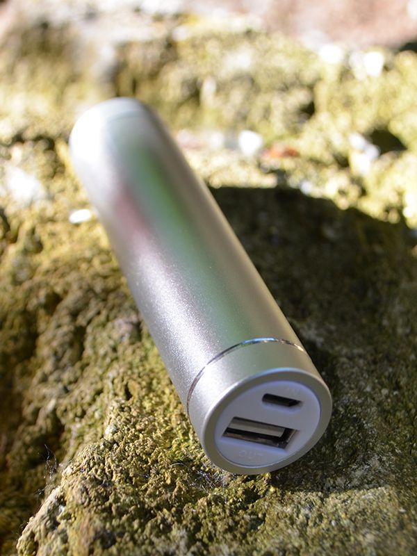 Купить Дополнительный внешний аккумулятор (Металлический Цилиндр) (2600mAh) Серебряный, epik