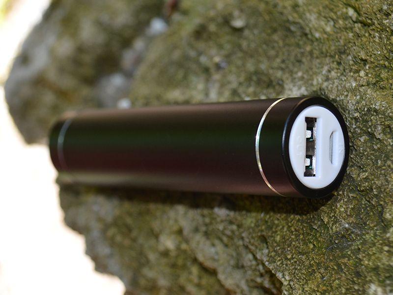 Купить Дополнительный внешний аккумулятор (Металлический Цилиндр) (2600mAh) Черный, epik