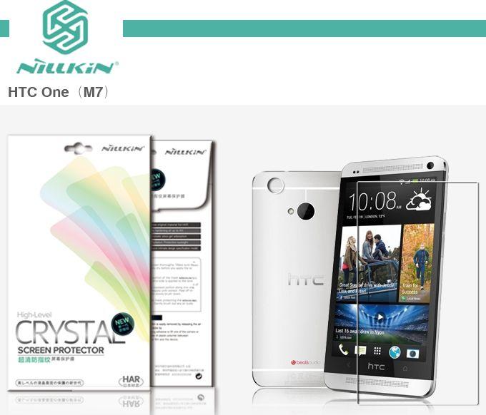 Купить Защитная пленка Nillkin Crystal для HTC One / M7 Анти-отпечатки