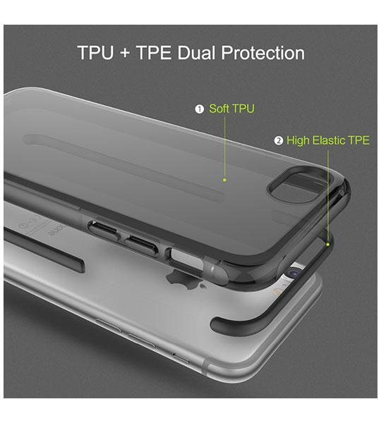 Купить TPU+PC чехол Rock Guard Series для Apple iPhone 7 (4.7 ) Черный / Transparent black
