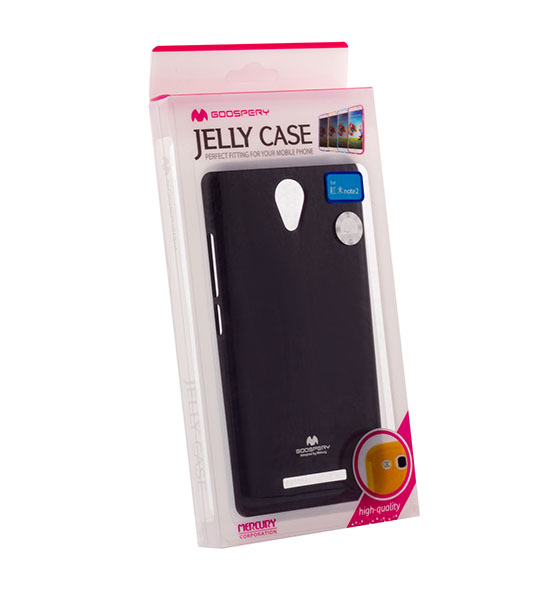 Купить TPU чехол Mercury Jelly Color series для Xiaomi Redmi Note 2 / Redmi Note 2 Prime Черный