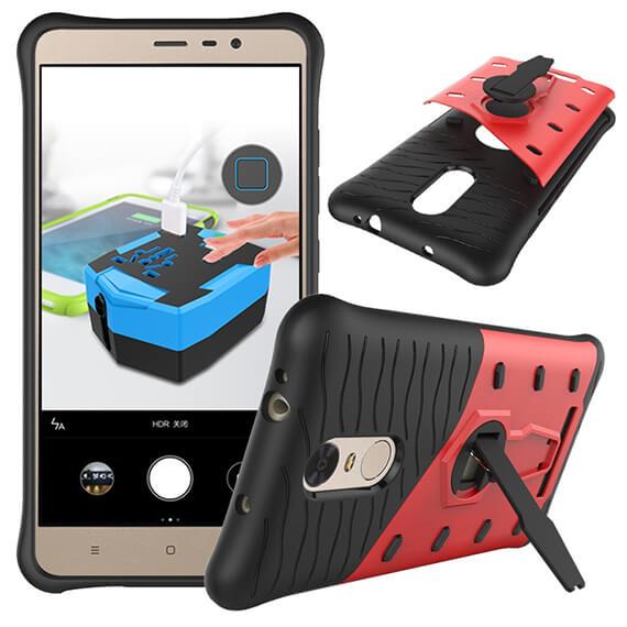 Купить Противоударный чехол Armored-case с функцией подставки для Xiaomi Redmi Note 3 / Redmi Note 3 Pro Красный