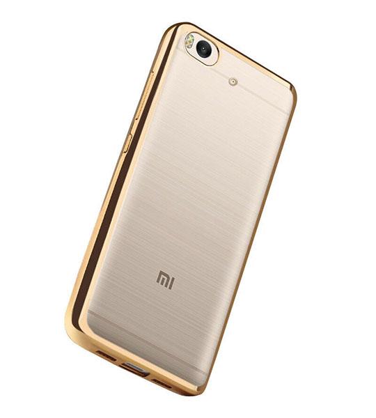 Купить Прозрачный силиконовый чехол для Xiaomi Mi 5s с глянцевой окантовкой Золотой, epik