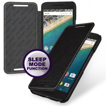 Кожаный чехол (книжка) TETDED для LG Google Nexus 5x Черный / Black