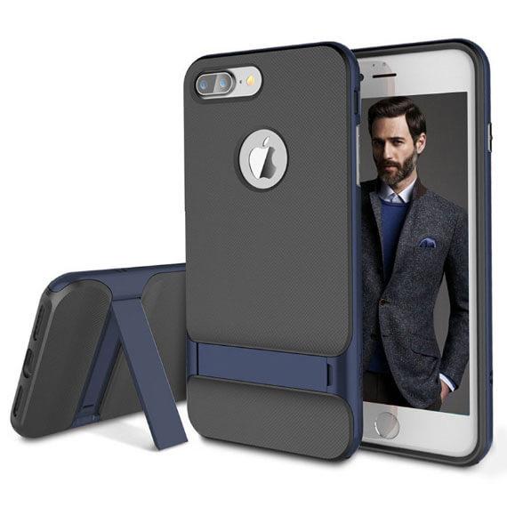 Купить TPU+PC чехол Rock Royce Series с функцией подставки для Apple iPhone 7 plus (5.5 ) Синий / Navy Blue