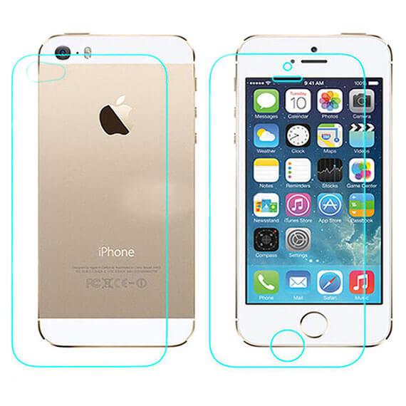 Защитная пленка Nillkin (на обе стороны(задняя низ+верх)) для Apple iPhone 5/5S/SE Матовая