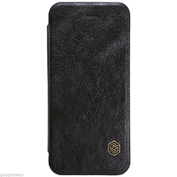 Купить Кожаный чехол (книжка) Nillkin Qin Series для Apple iPhone 5/5S/SE Черный
