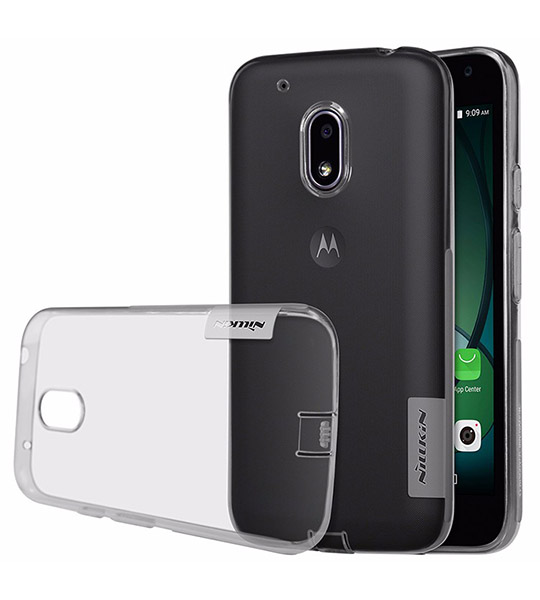 Купить TPU чехол Nillkin Nature Series для Motorola Moto G4 Play Серый (прозрачный)