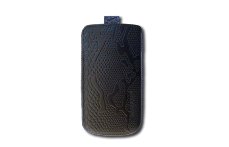 Кожаный футляр Mavis Classic PYTHON для i9082/IQ450/IQ451 Черный (змея)