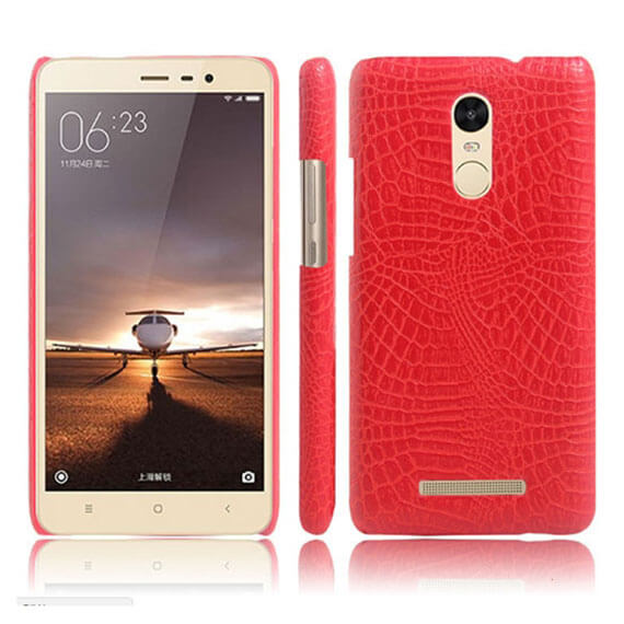 Купить Кожаный чехол с узором из крокодиловой кожи Croc Series для Xiaomi Redmi Note 3 / Redmi Note 3 Pro Розовый, epik