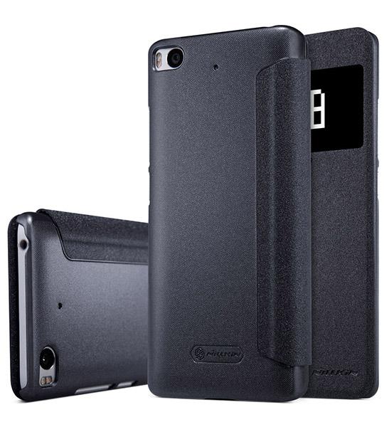 Купить Кожаный чехол (книжка) Nillkin Sparkle Series для Xiaomi Mi 5s Черный