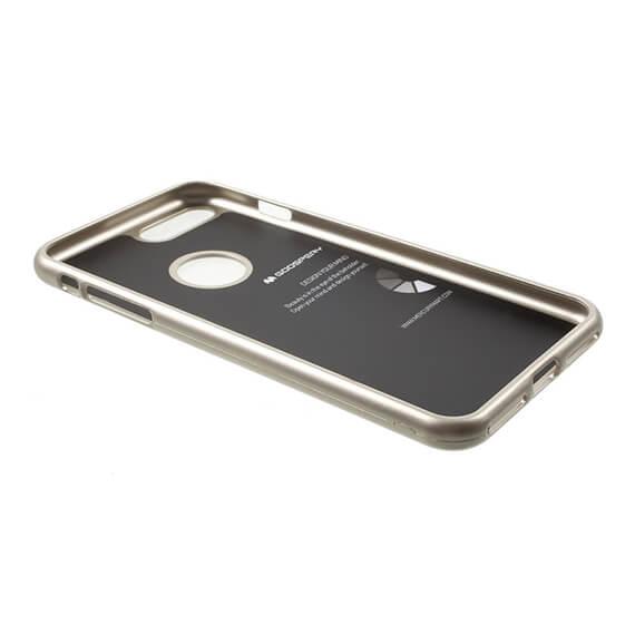 Купить TPU чехол Mercury iJelly Metal series для Apple iPhone 7 plus (5.5 ) Золотой