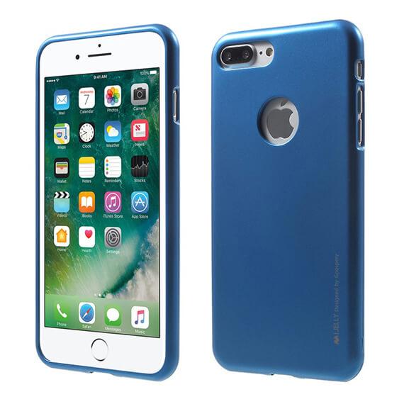 Купить TPU чехол Mercury iJelly Metal series для Apple iPhone 7 plus (5.5 ) Синий