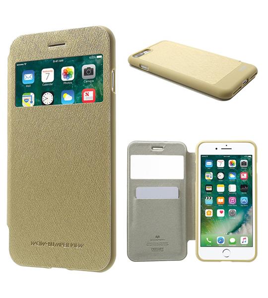Купить Чехол (книжка) Mercury Wow Bumper series для Apple iPhone 7 plus (5.5 ) Золотой