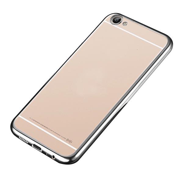 Купить Прозрачный силиконовый чехол для Meizu U20 с глянцевой окантовкой Серебряный, epik