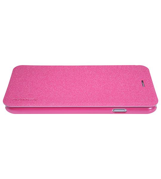 Купить Кожаный чехол (книжка) Nillkin Sparkle Series для Apple iPhone 7 plus (5.5 ) Розовый