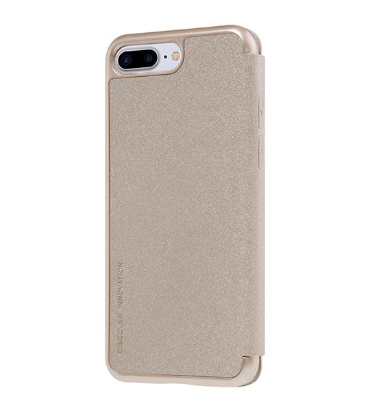 Купить Кожаный чехол (книжка) Nillkin Sparkle Series для Apple iPhone 7 plus (5.5 ) Золотой