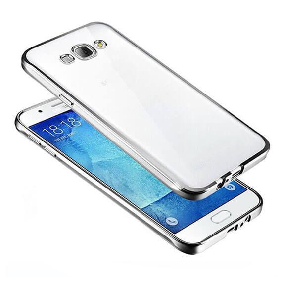 Купить Прозрачный силиконовый чехол для Samsung G532F Galaxy J2 Prime (2016) с глянцевой окантовкой Серебряный, epik