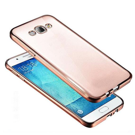 Прозрачный силиконовый чехол для Samsung G532F Galaxy J2 Prime (2016) с глянцевой окантовкой Розовый, epik  - купить со скидкой