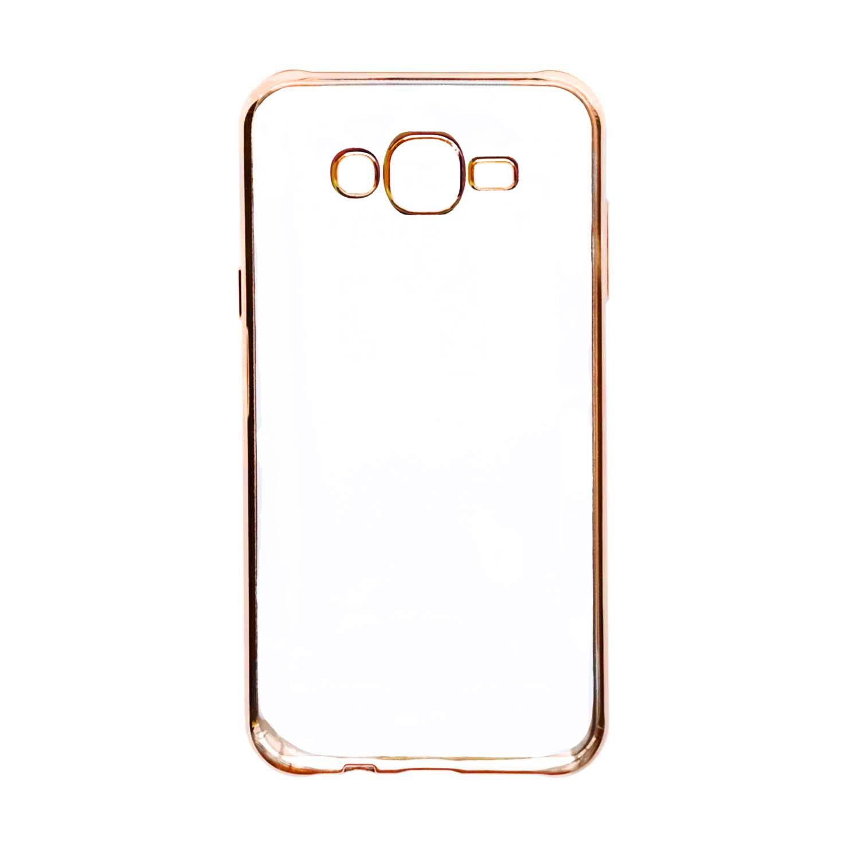 Купить Прозрачный силиконовый чехол для Samsung J700H Galaxy J7 с глянцевой окантовкой Розовый, epik