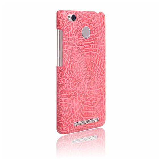Купить Кожаный чехол с узором из крокодиловой кожи Croc Series для Xiaomi Redmi 3 Pro / Redmi 3s Розовый, epik
