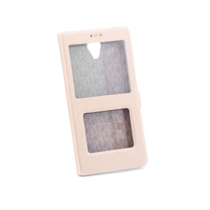 Купить Чехол (книжка) с PC креплением для Xiaomi Redmi Note 2 / Redmi Note 2 Prime Золотой, epik