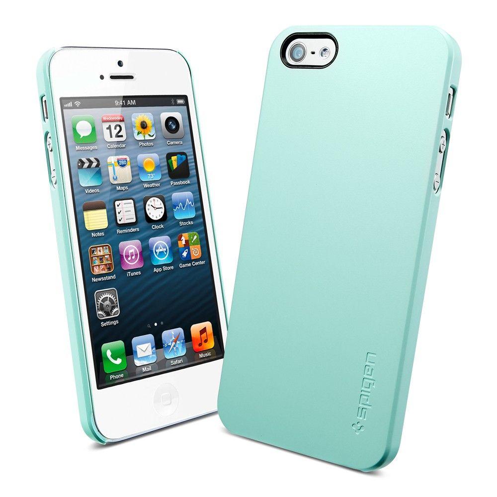 Пластиковая накладка SGP Ultra Thin Air Series для Apple iPhone 5/5S/SE (+ пленка) Зеленый / Mint Green / SGP09539