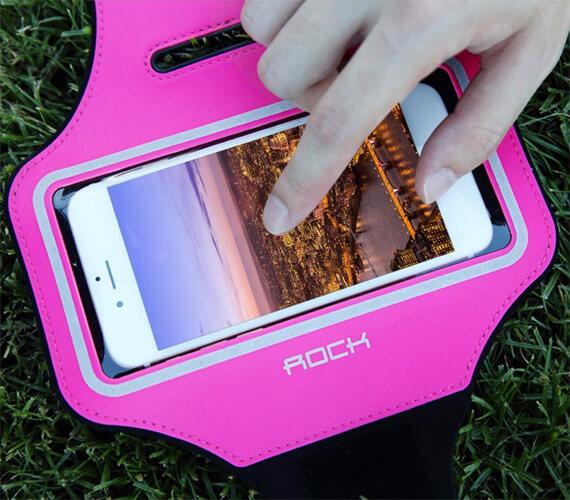 Купить Неопреновый спортивный чехол на руку Rock Sports Armband (B) для Apple iPhone 6/6s (4.7 ) Розовый / Pink