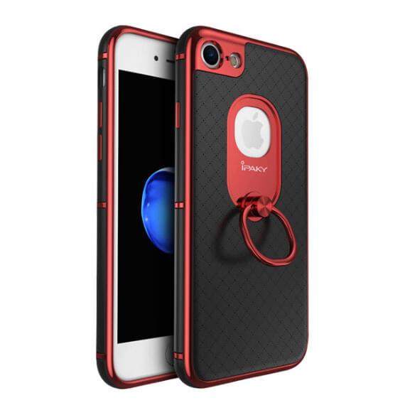 Купить Чехол iPaky Ring Series для Apple iPhone 7 (4.7 ) Красный