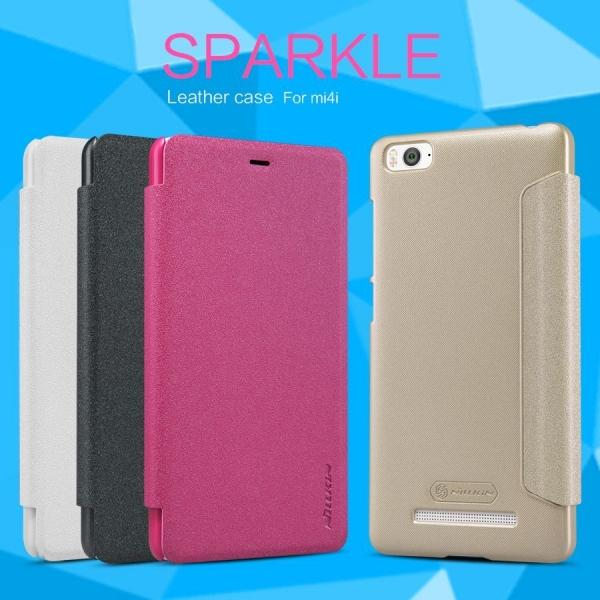 Купить Кожаный чехол (книжка) Nillkin Sparkle Series для Xiaomi Mi 4i / Mi 4c Черный